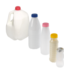 Milk and Dairy Containers (milks gallon, cream, concentrated milk , fresh creams, drinkable Yogurts). Hema filler, capper, complete lines